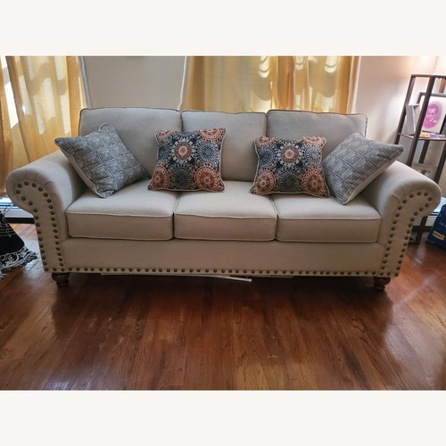 Used Raymour & Flanigan 3-Seater Beige Sofa for sale on AptDeco