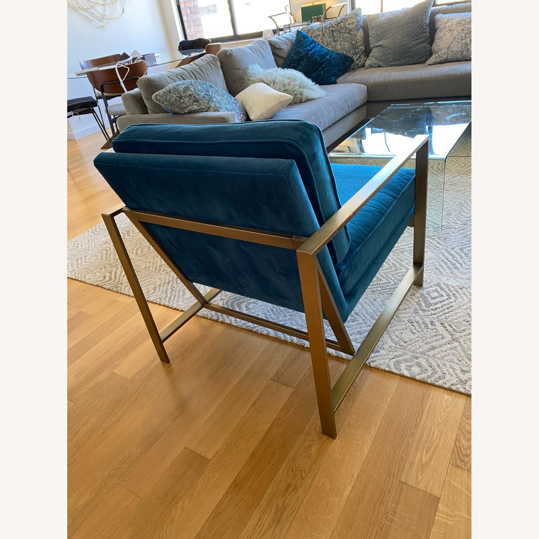 West Elm Metal Frame Upholstered Chair - image-3