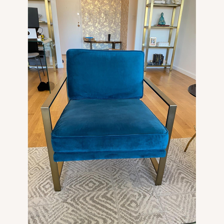 West Elm Metal Frame Upholstered Chair - image-7