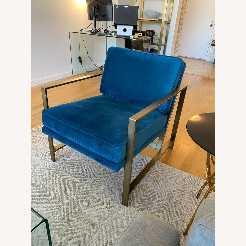 West Elm Metal Frame Upholstered Chair - image-5