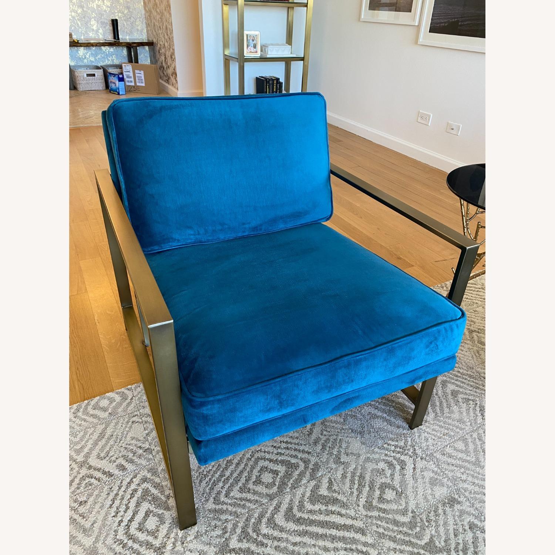 West Elm Metal Frame Upholstered Chair - image-6