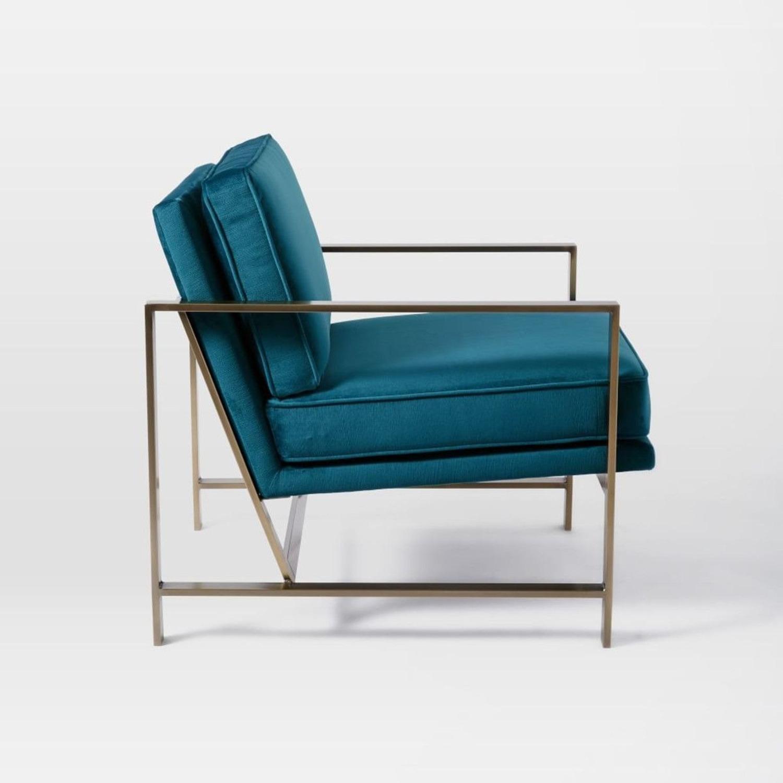 West Elm Metal Frame Upholstered Chair - image-1