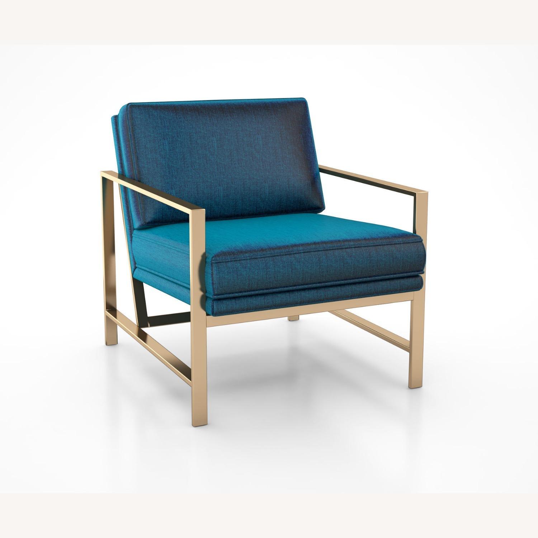 West Elm Metal Frame Upholstered Chair - image-2