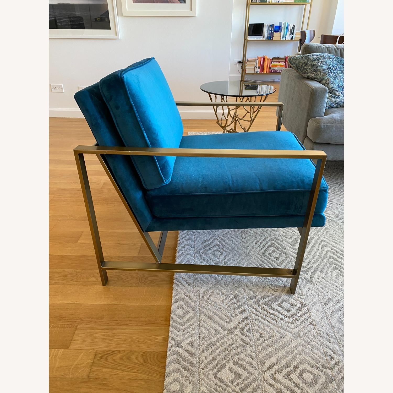 West Elm Metal Frame Upholstered Chair - image-4