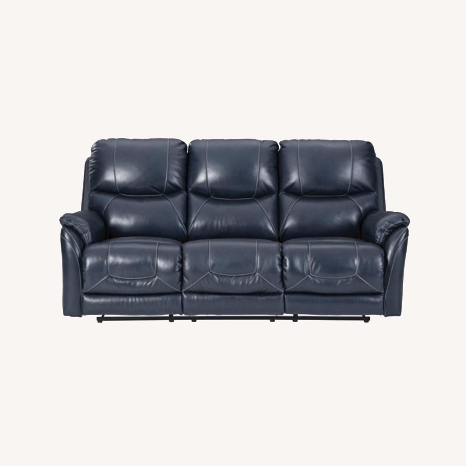 Ashley Furniture Genuine Leather Power Reclining Sofa - image-0