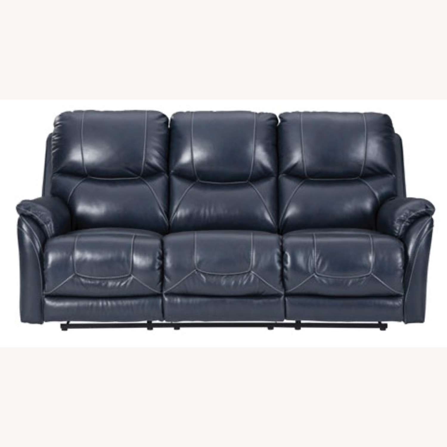 Ashley Furniture Genuine Leather Power Reclining Sofa - image-7