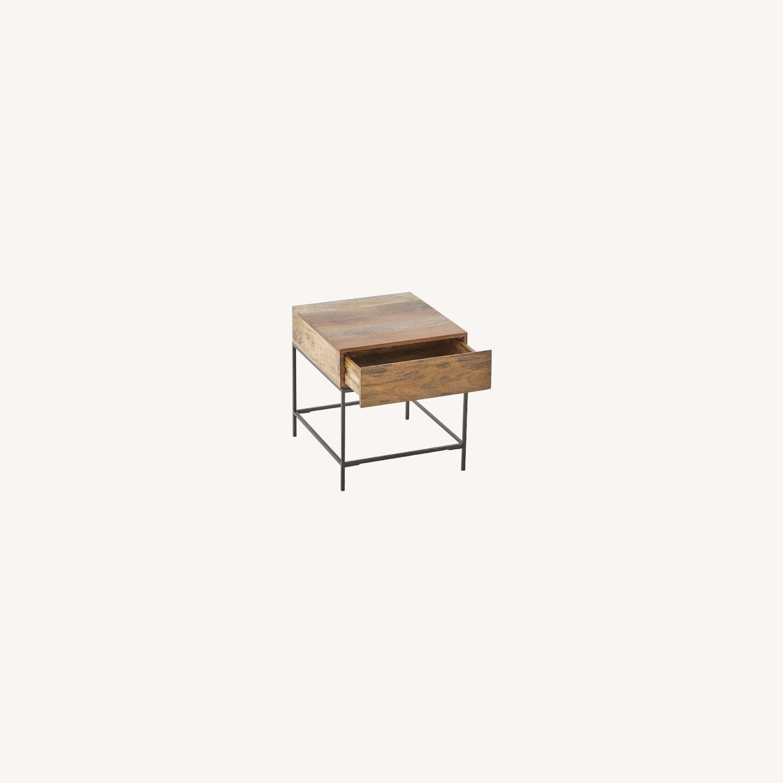 West Elm Industrial Storage Side Table, Raw Mango - image-4