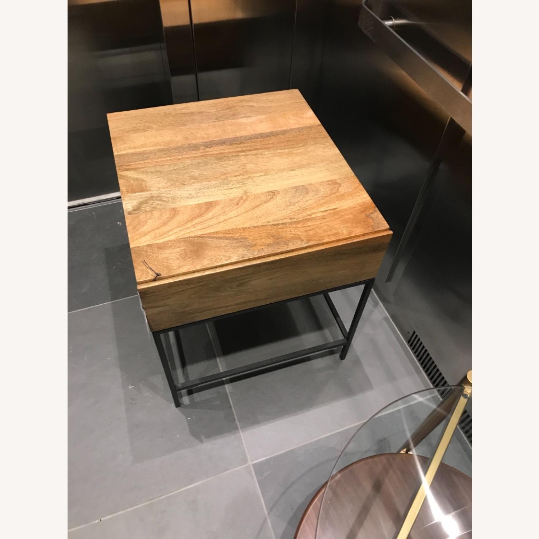 West Elm Industrial Storage Side Table, Raw Mango - image-5