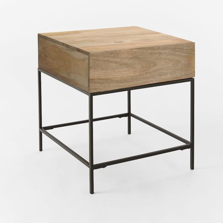 West Elm Industrial Storage Side Table, Raw Mango - image-2