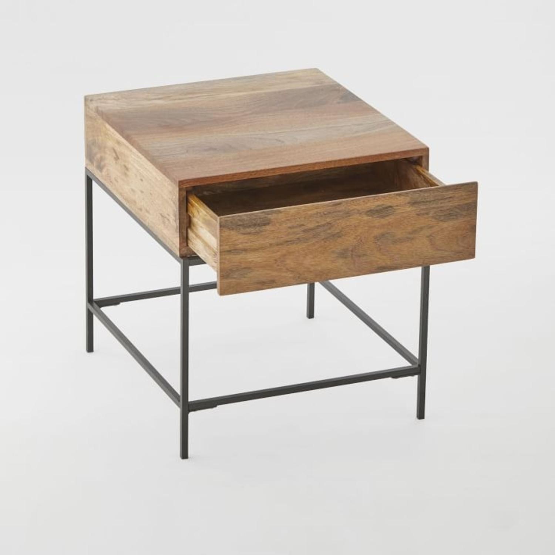 West Elm Industrial Storage Side Table, Raw Mango - image-1