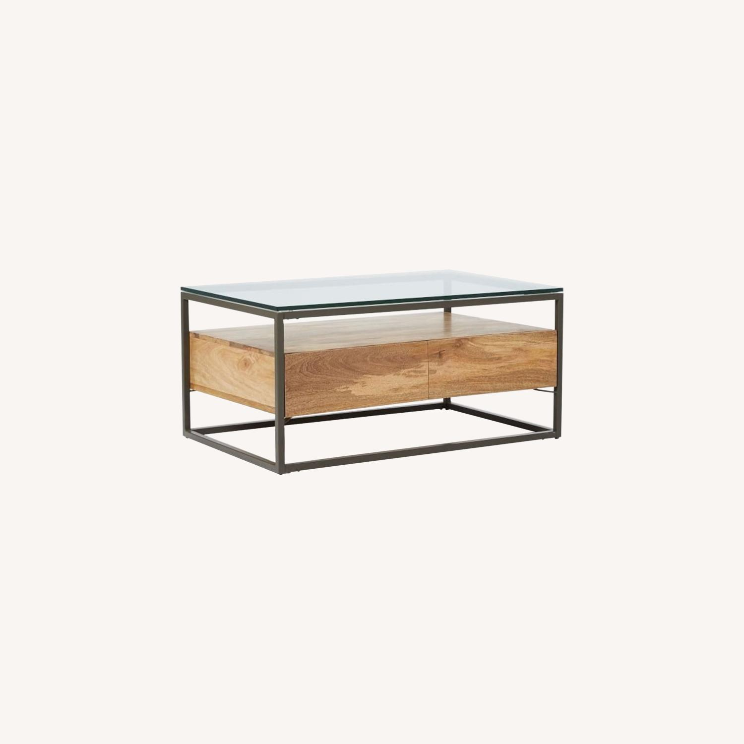 West Elm Box Frame Storage Coffee Table  - image-0