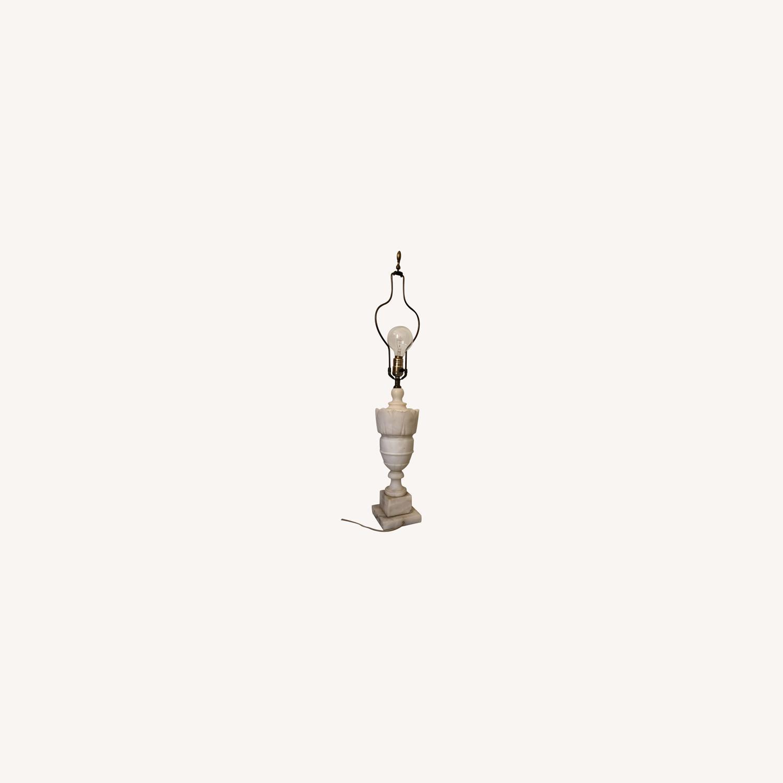 Vintage Alabaster Urn Lamp - image-0