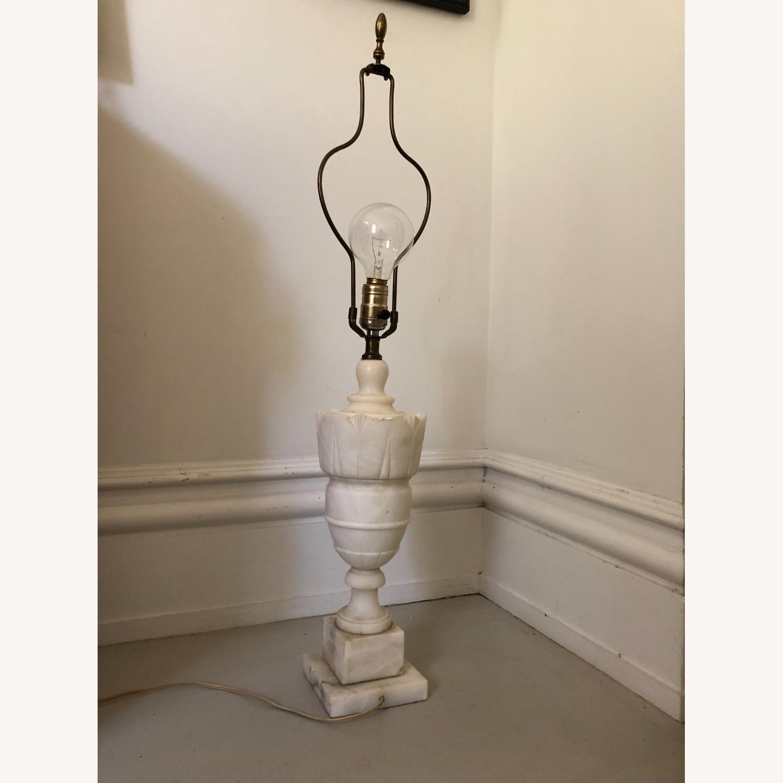 Vintage Alabaster Urn Lamp - image-1