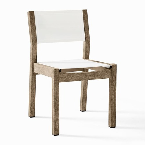 Used West Elm Portside Outdoor Textilene Dining Chair for sale on AptDeco