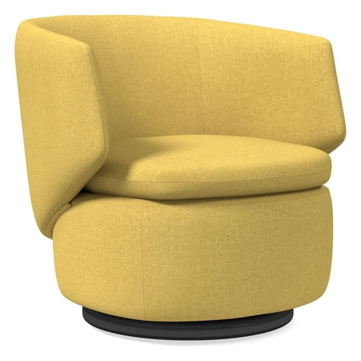 West Elm Crescent Swivel Chair - image-3