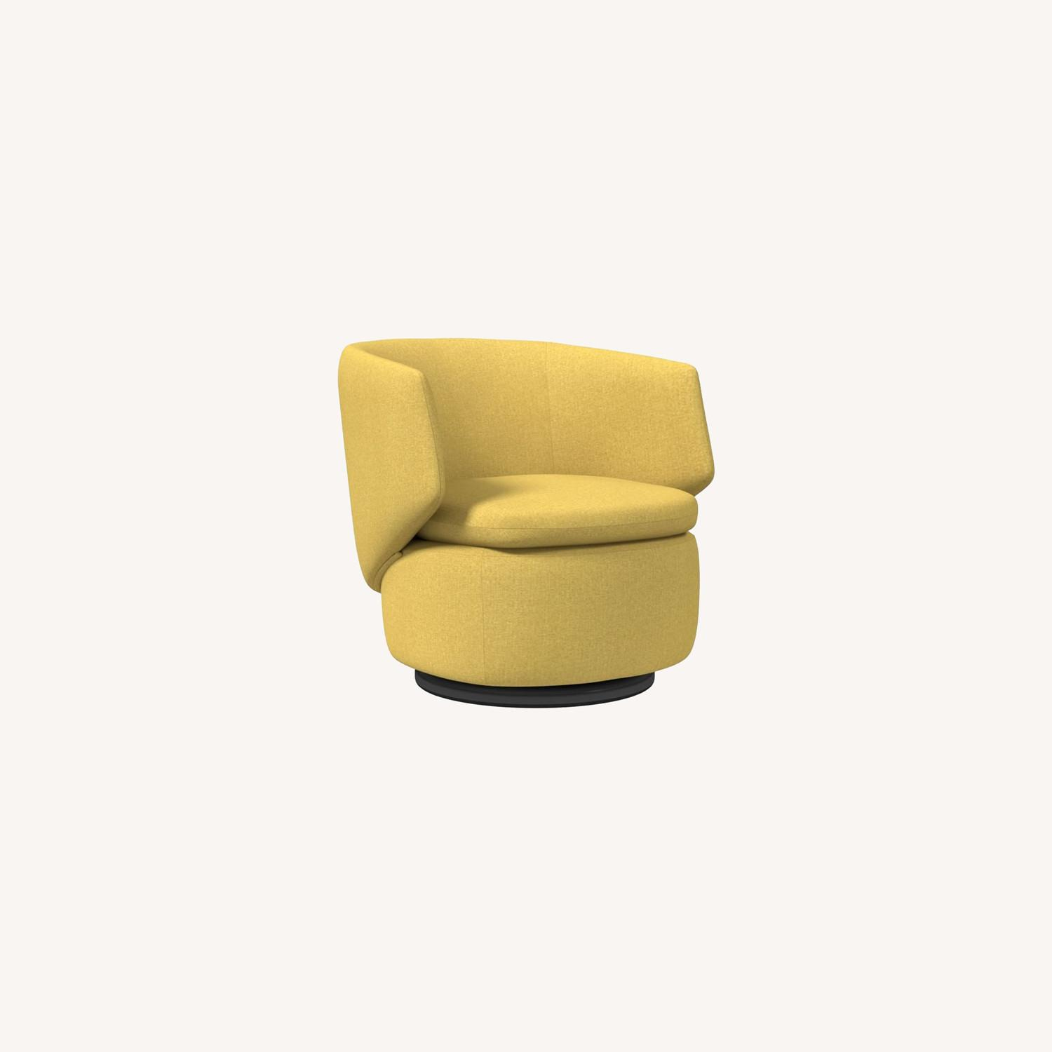 West Elm Crescent Swivel Chair - image-0