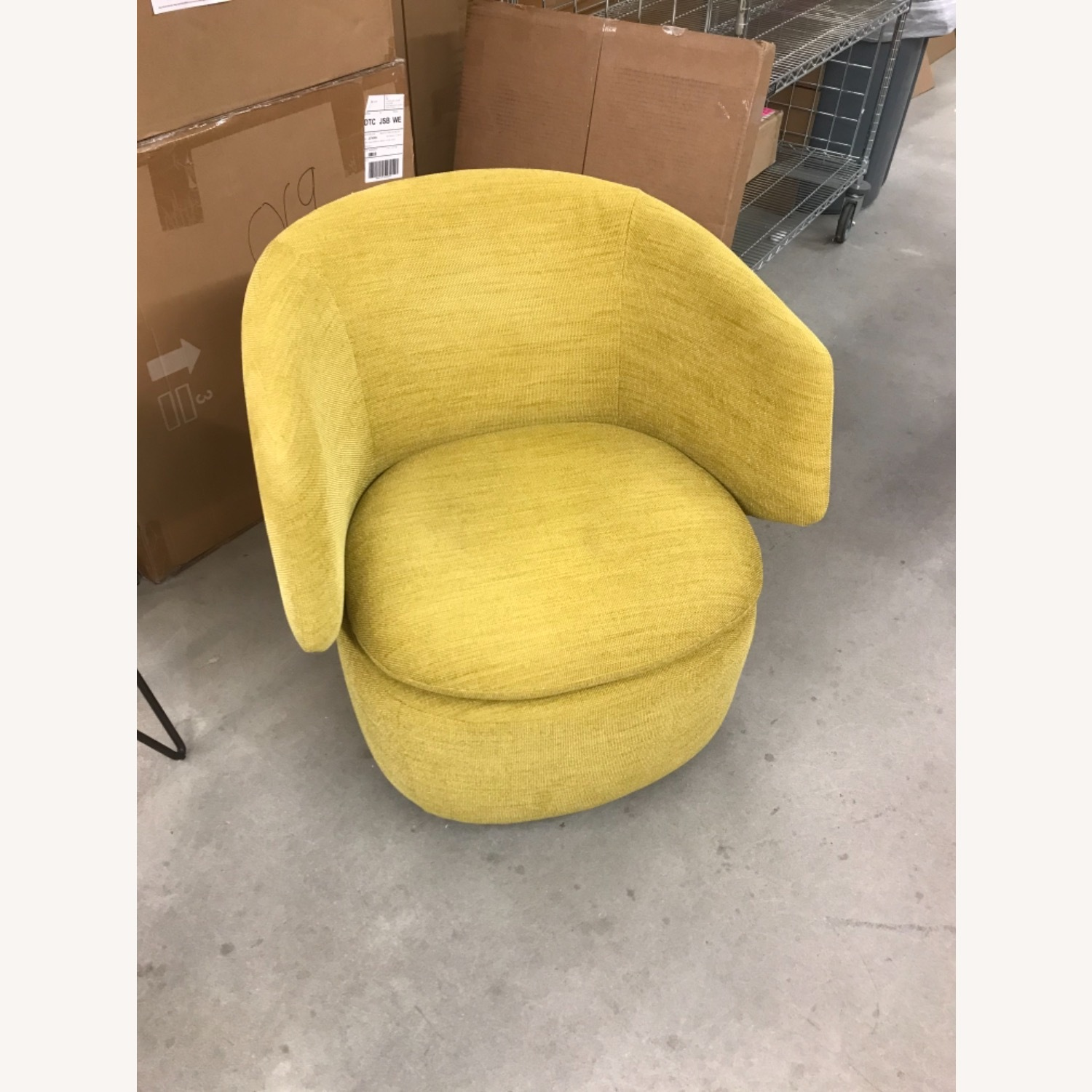 West Elm Crescent Swivel Chair - image-4