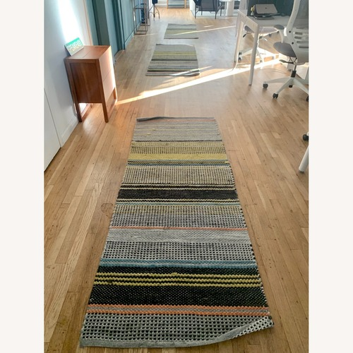 Used West Elm Ombre Pop In/Out Rug 2.5x7 (set of 3) for sale on AptDeco