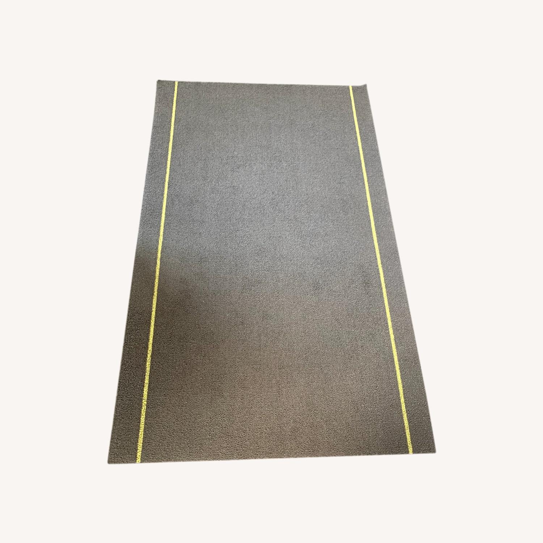 Chilewich Skinny Stripe Shag Mat, Gray - image-0