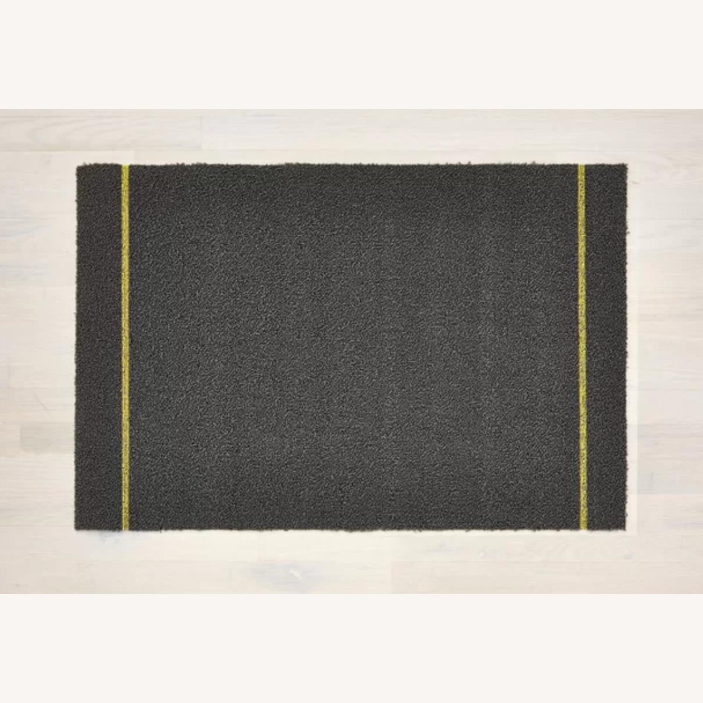Chilewich Skinny Stripe Shag Mat, Gray - image-2