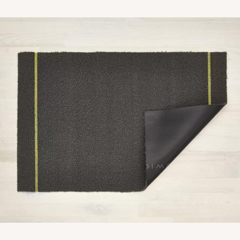 Chilewich Skinny Stripe Shag Mat, Gray - image-1