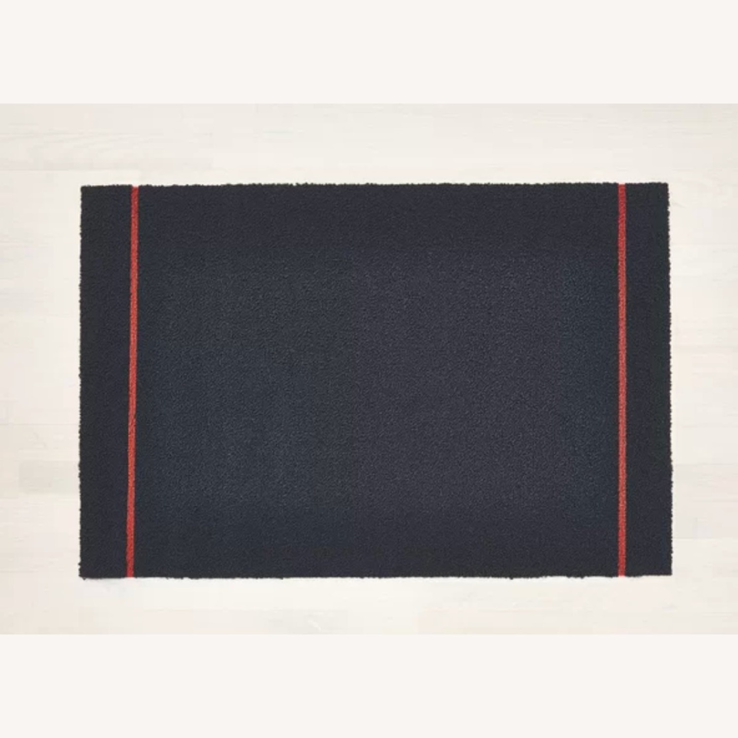 Chilewich Skinny Stripe Shag Mat, Navy Coral - image-2
