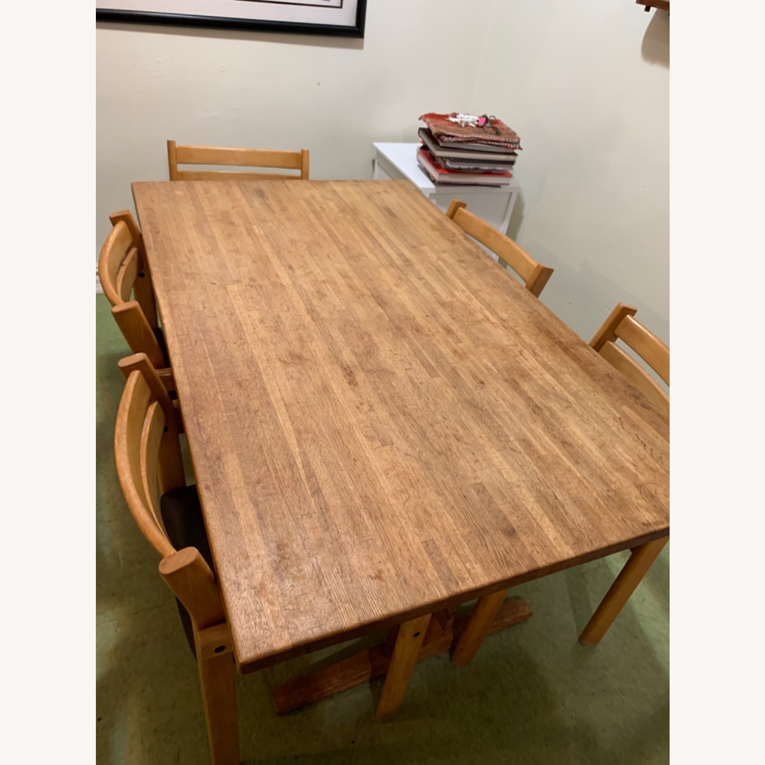 Wood Dining Table and 6 Chairs - image-2