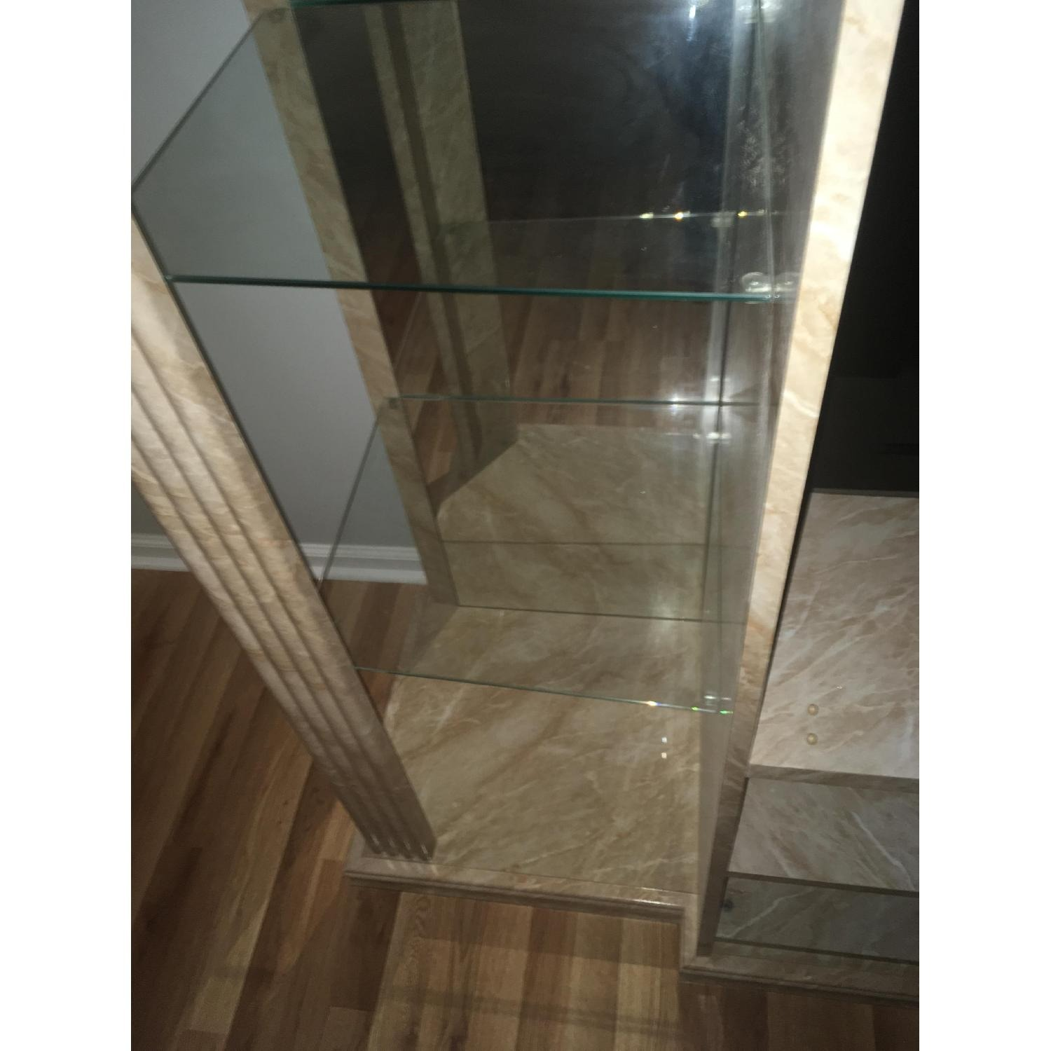 Marble & Glass Wall Unit - image-3