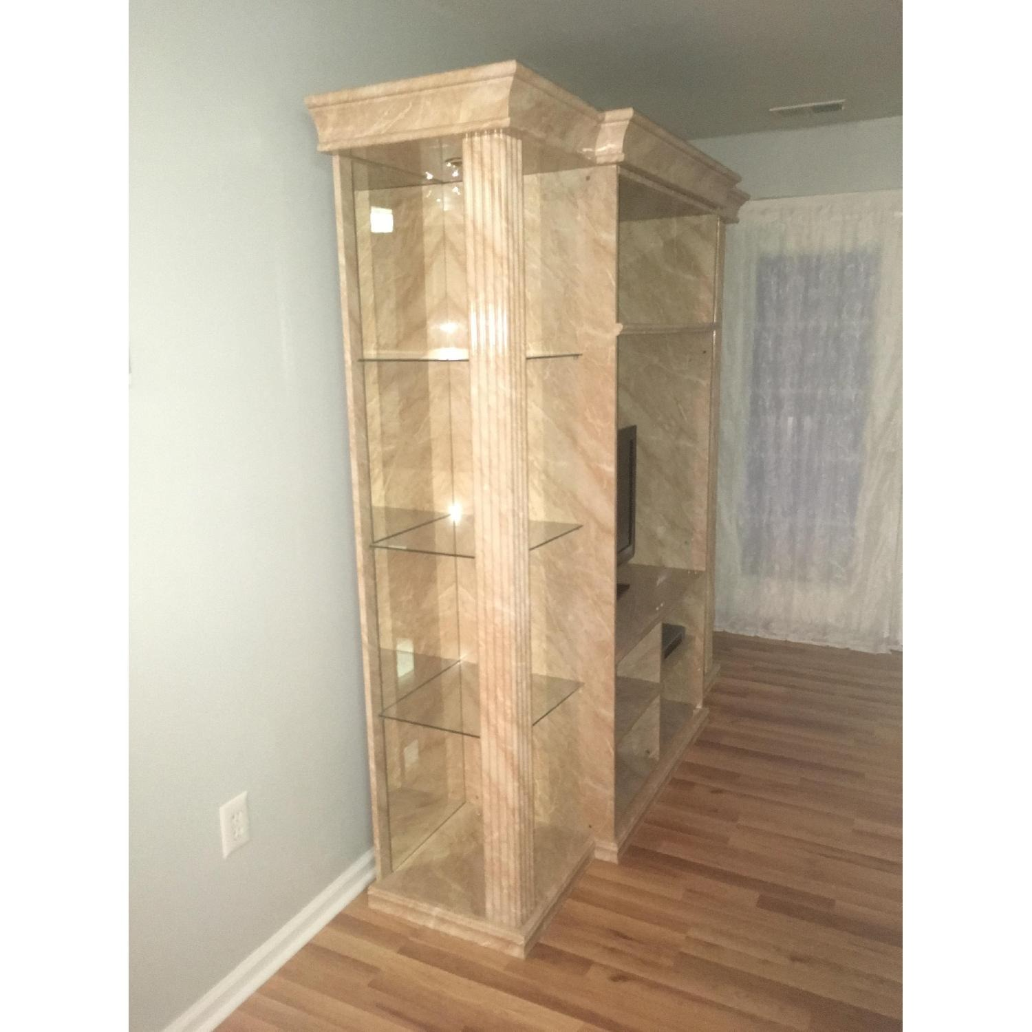 Marble & Glass Wall Unit - image-2