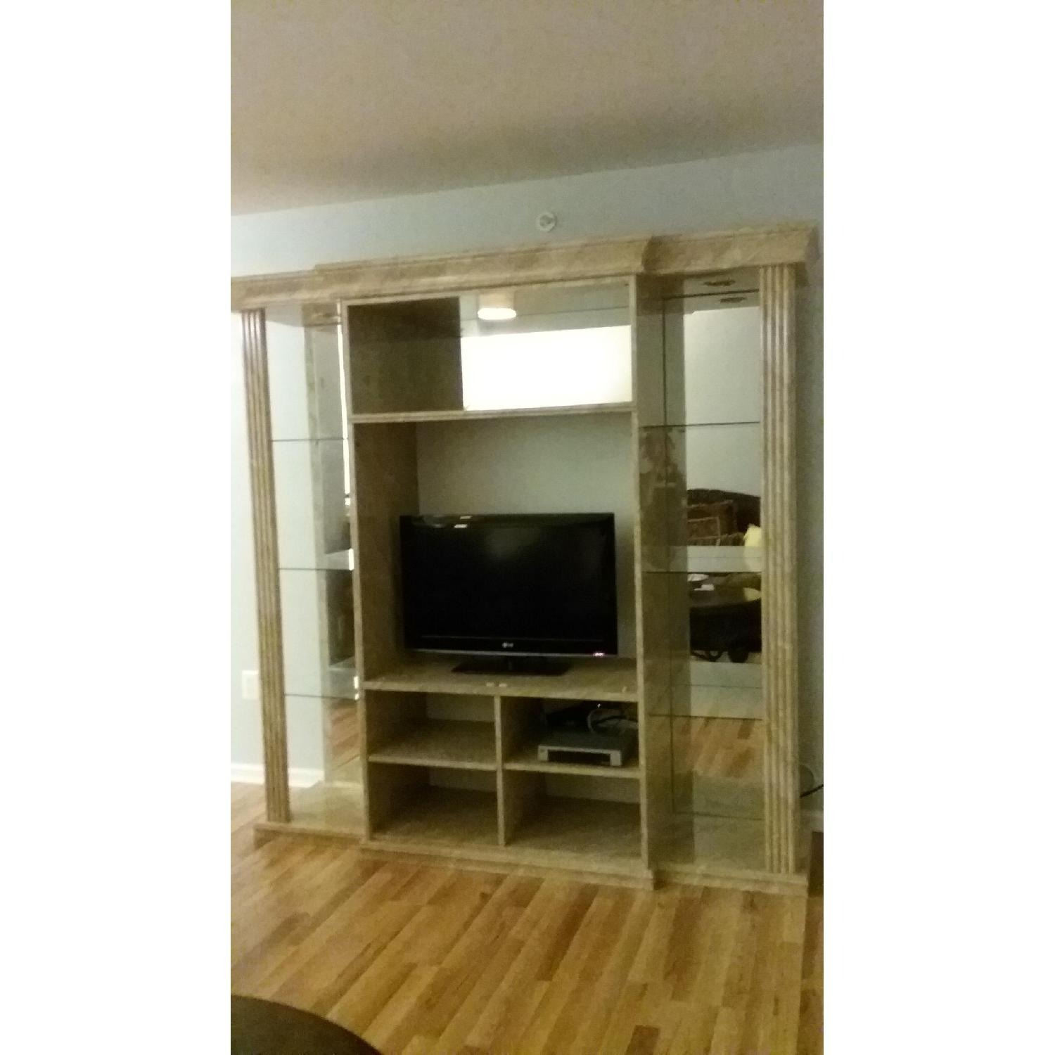 Marble & Glass Wall Unit - image-1