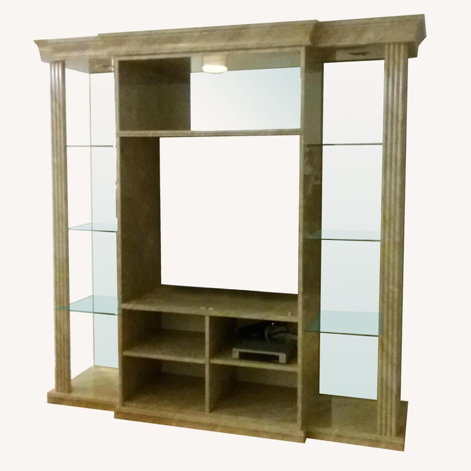 Marble & Glass Wall Unit - image-0
