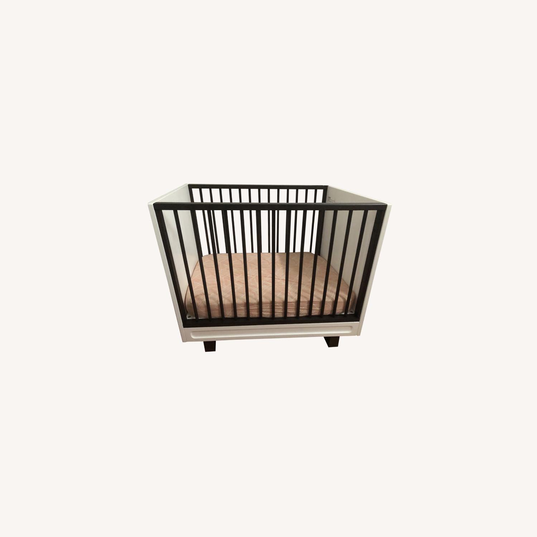 West Elm X Pbk Mid-Century Mini-Crib 2 Tone - image-0