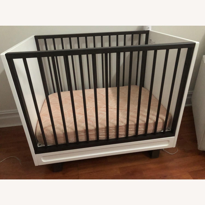 West Elm X Pbk Mid-Century Mini-Crib 2 Tone - image-1