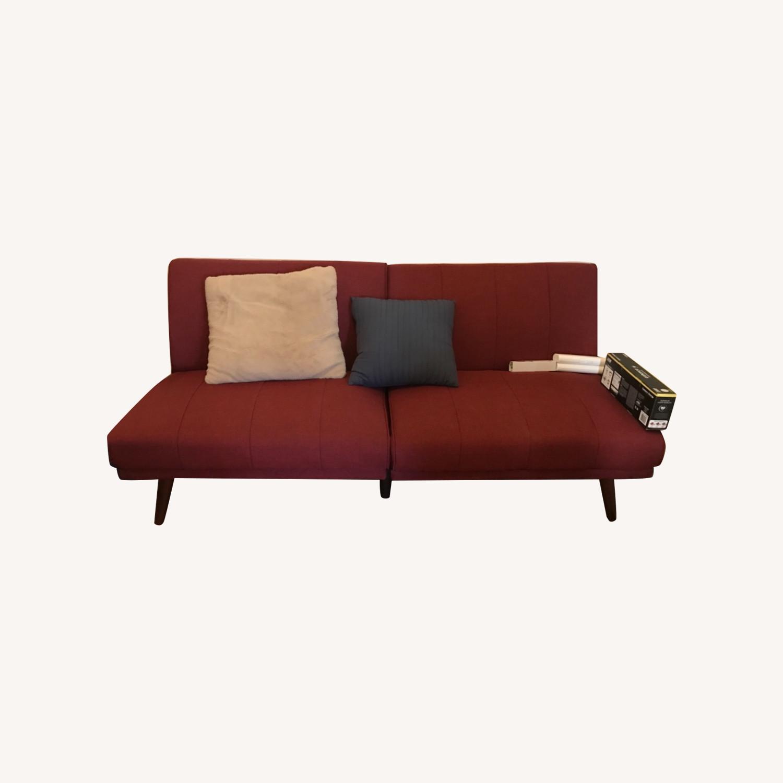 Wayfair Maroon Futon Couch Aptdeco