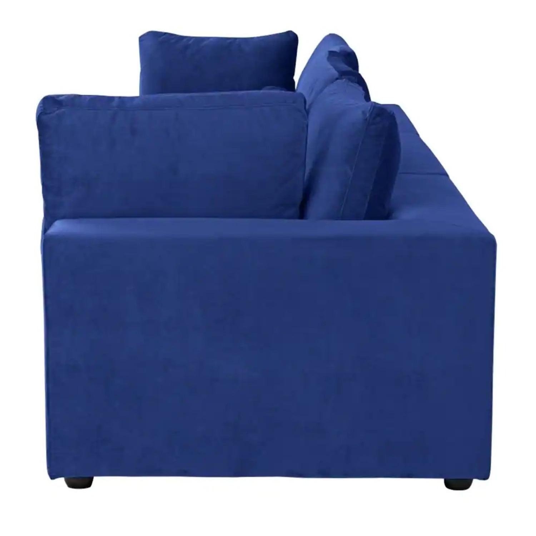 Royal Blue Large Classic Living Room Sofa - image-3