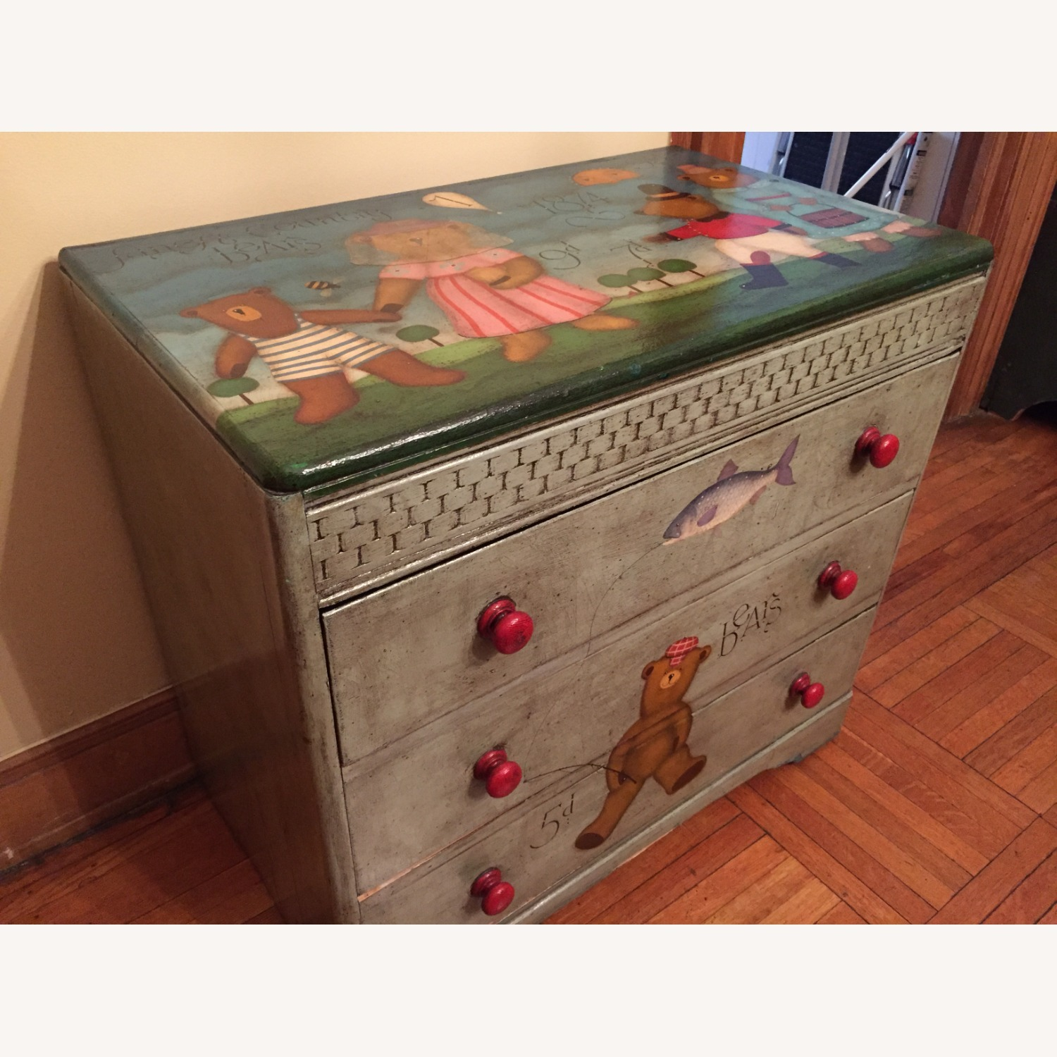 ABC Carpet One-of-a-Kind Hand Painted Dresser - image-0