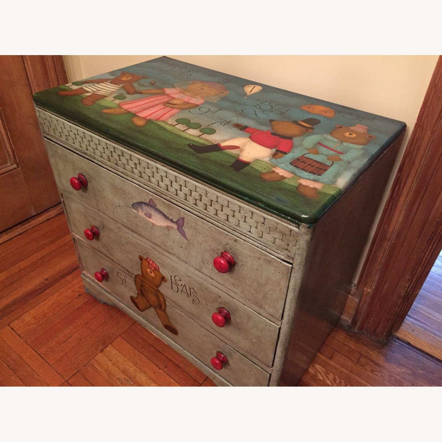 ABC Carpet One-of-a-Kind Hand Painted Dresser - image-3