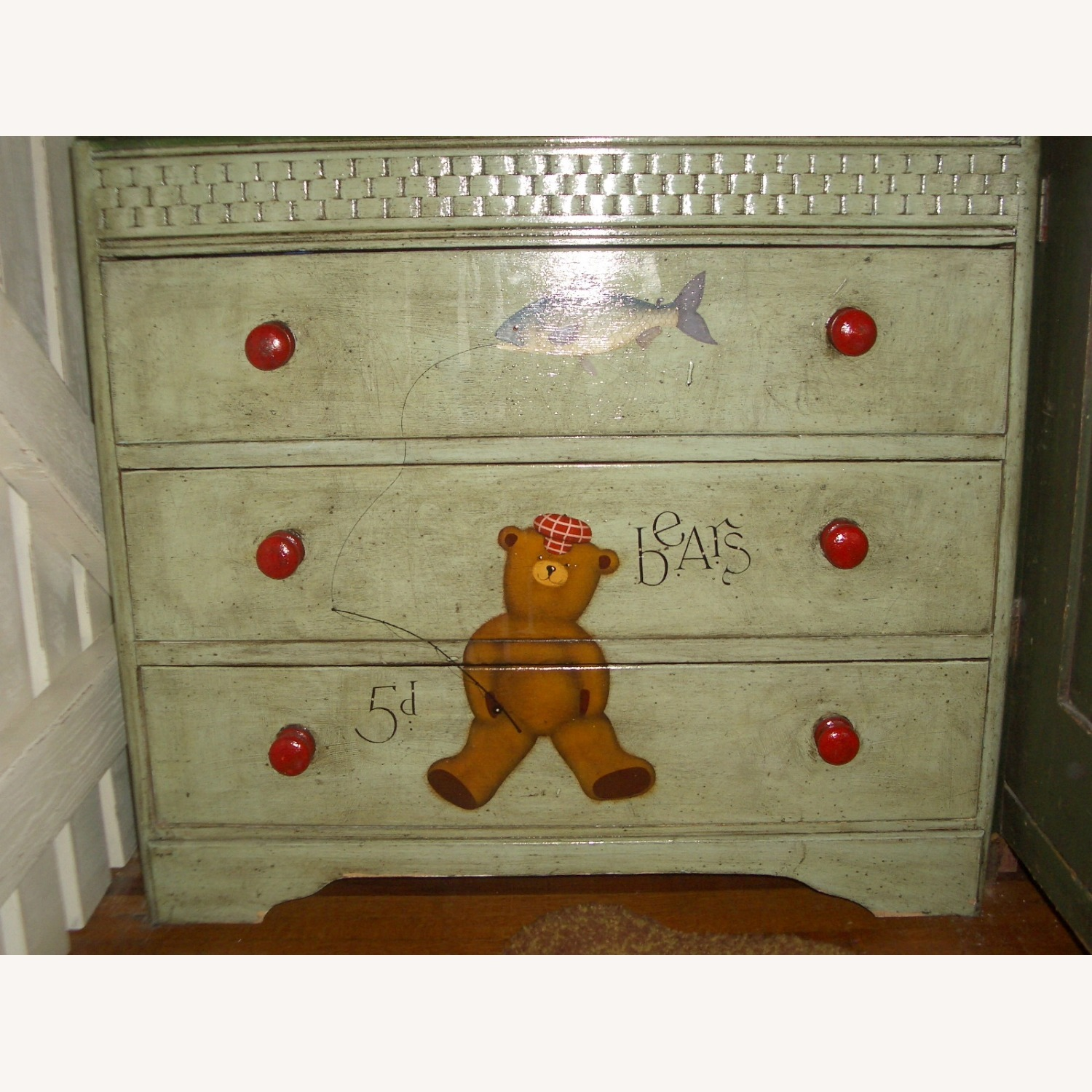 ABC Carpet One-of-a-Kind Hand Painted Dresser - image-1