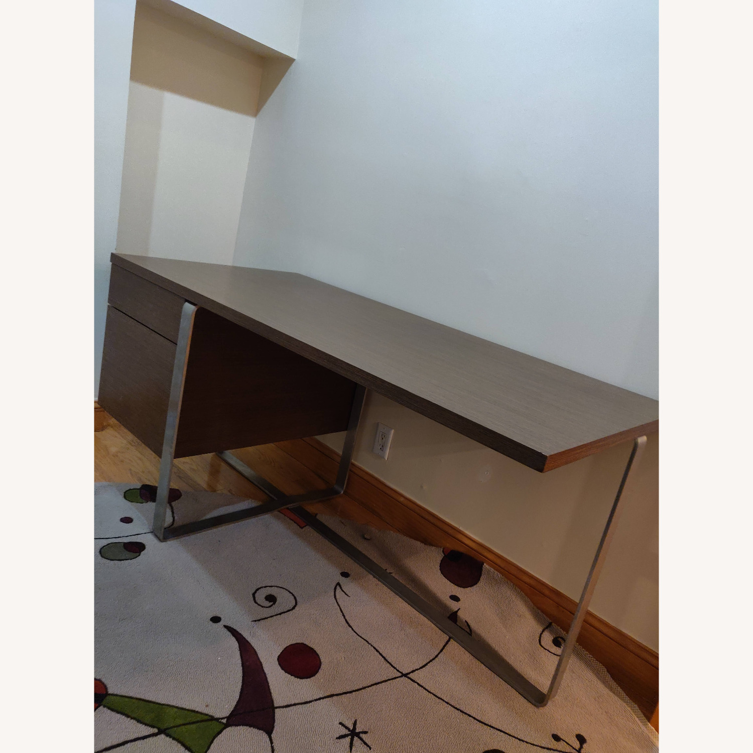 Modern Desk with Metal Accents - image-3