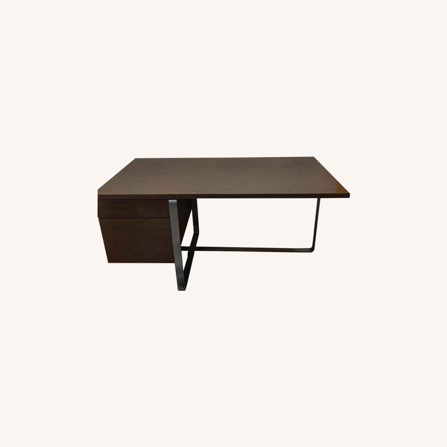 Modern Desk with Metal Accents - image-0