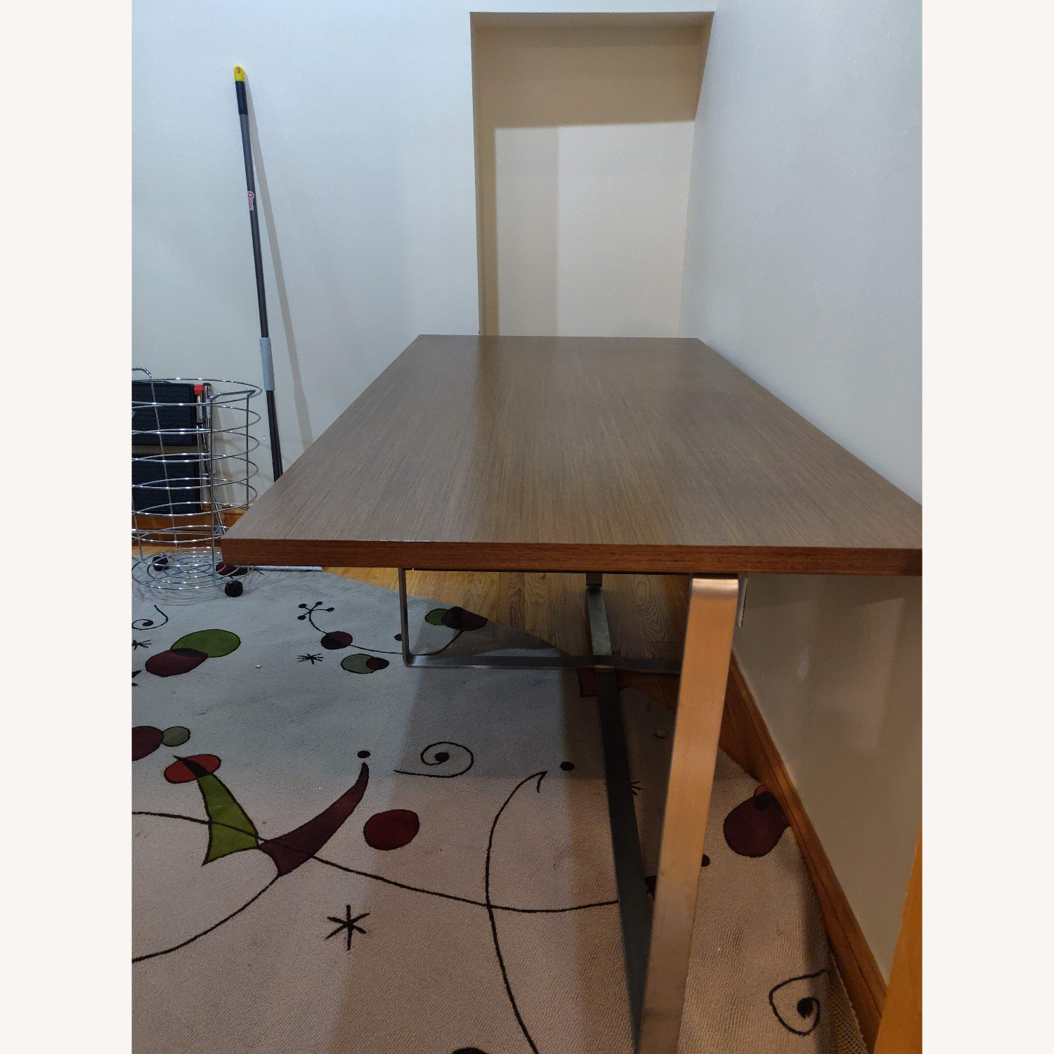 Modern Desk with Metal Accents - image-5