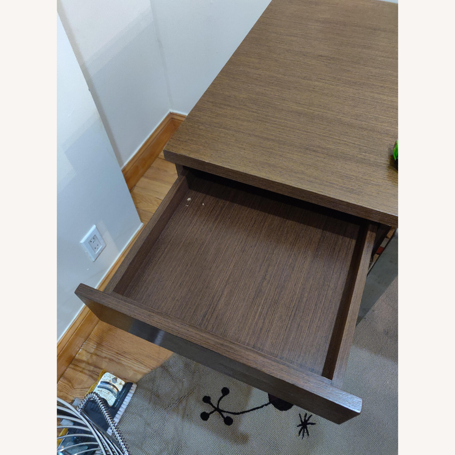 Modern Desk with Metal Accents - image-2