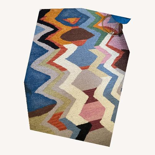 Used Multicolor Contemporary Wool Rug for sale on AptDeco