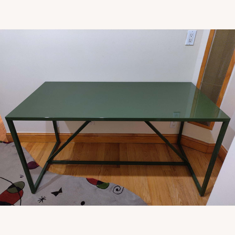 Green Metal Desk - image-1