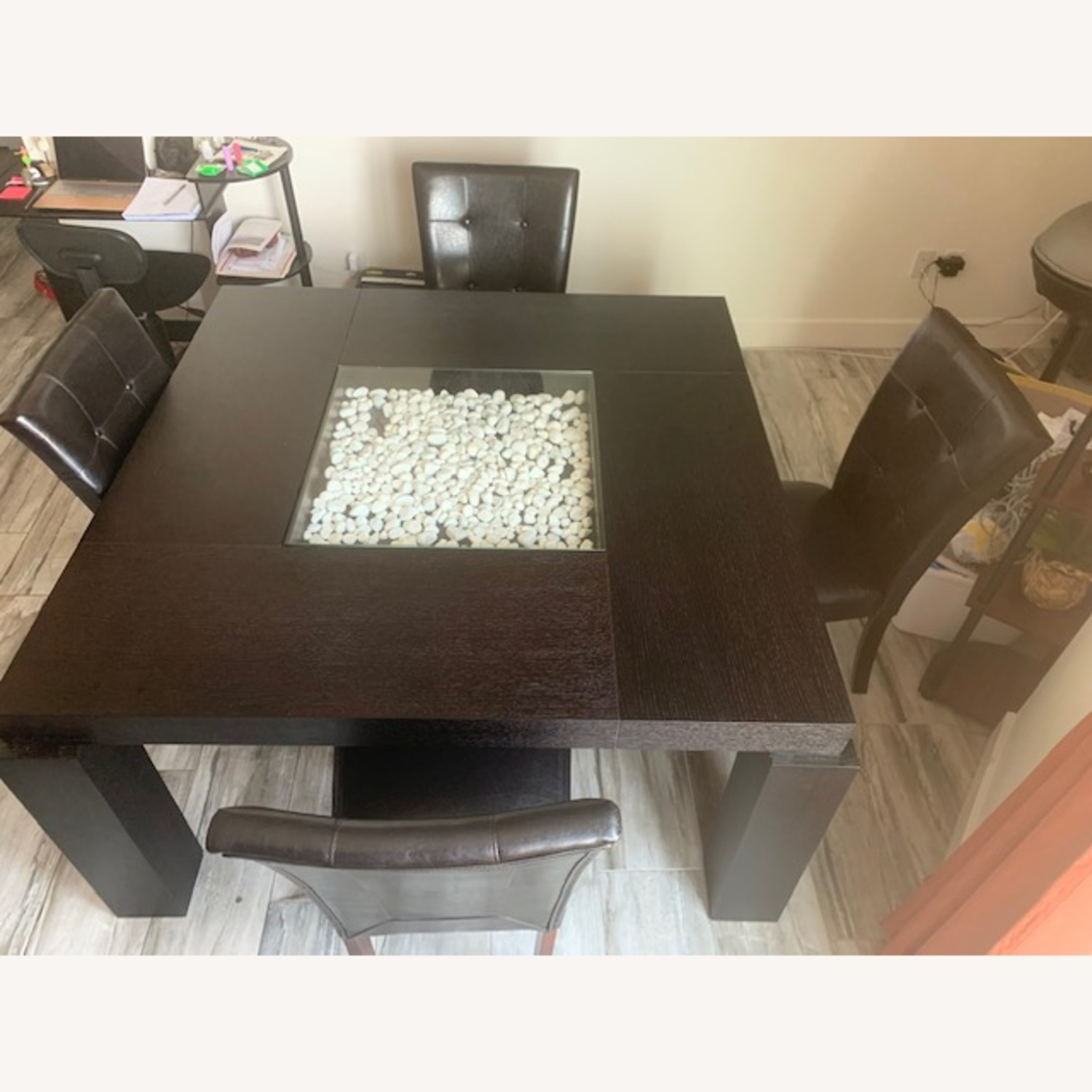 Raymour & Flanigan Black Dining Set Table with 4 Chairs - image-2