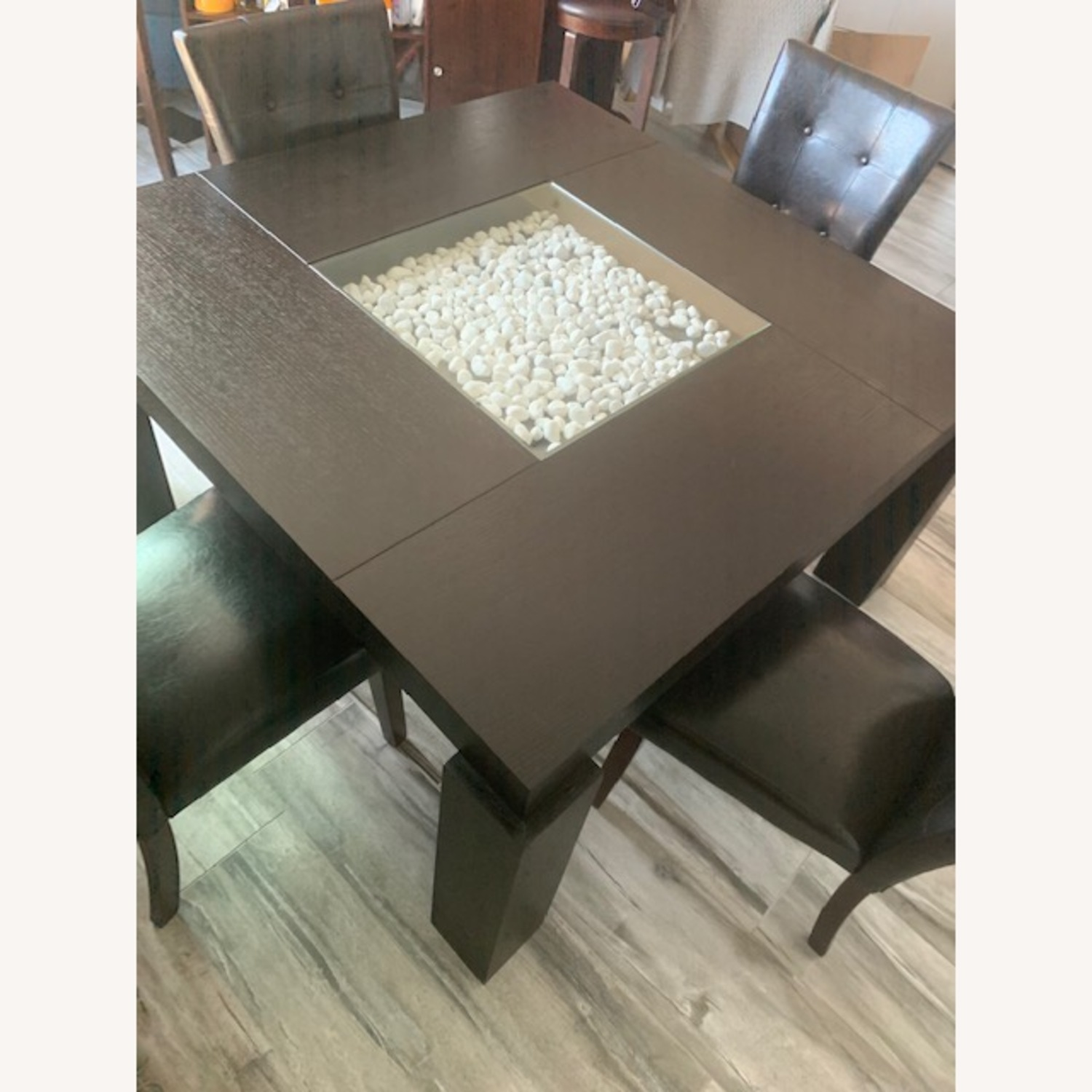 Raymour & Flanigan Black Dining Set Table with 4 Chairs - image-1