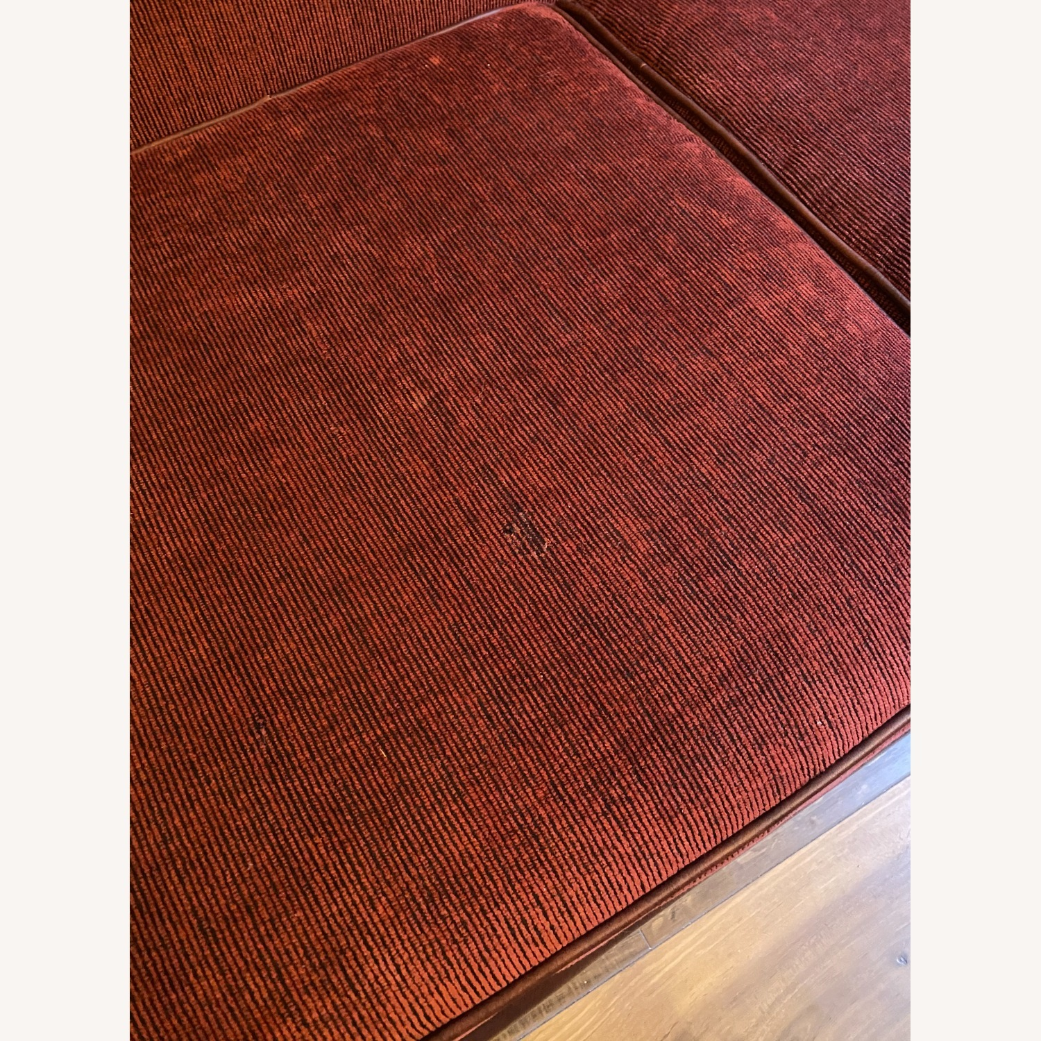 Carlyle Leather and Red Sleeper Sofa - image-2