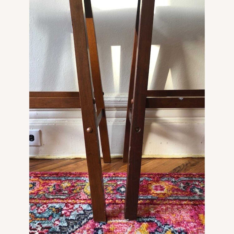 IKEA Dark Wood Saddle Stools - image-3