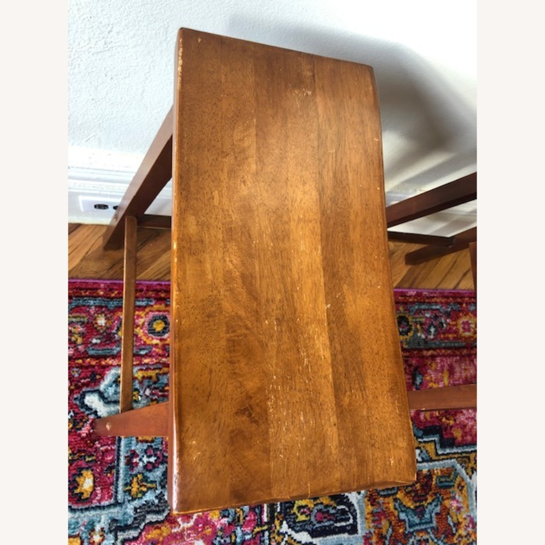 IKEA Dark Wood Saddle Stools - image-6