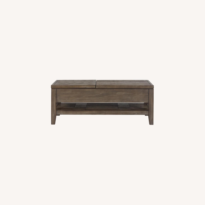 Dark Tone Rect Lift Coffee Table - image-0